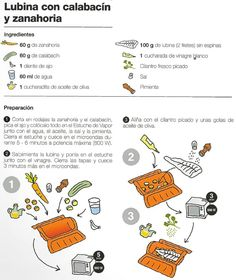 Lubina con calabacín y zanahoria Steam Cooker, Make It Simple, Cooking, Recipes, Fish, Shape, Easy Food Recipes, Healthy Food, Thermomix