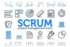 Scrum - Project Management Icons by sarunw on Creative Market