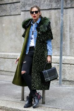 This season take inspiration from the concrete catwalk and layer your denim jacket under a coat. www.stylestaples.com.au