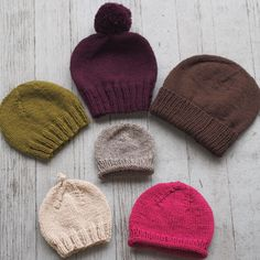 a4e80a92dea Basic Beginner Hats for the Family. Knit HatsKnitted Hats KidsKnitting ...
