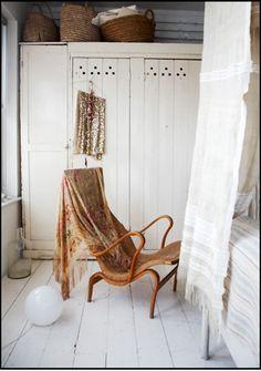 "An early Bruno Mathsons design ""Pernilla"" and a nice home made wardrobe/closet"
