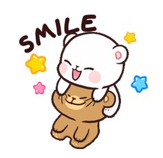 LINE Official Stickers - Milk & Mocha: Unstoppable Lovers Example with GIF Animation Cute Cartoon Images, Cute Couple Cartoon, Cute Cartoon Wallpapers, Cute Images, Hd Images, Cartoon Smile, Cartoon Gifs, Cute Love Pictures, Cute Love Gif