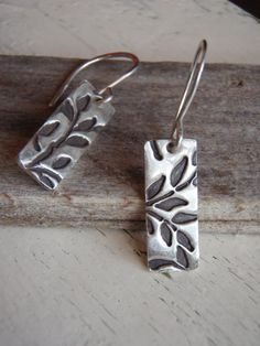 ARTisan Made Fallin' Leaves II Earrings  PMC  by ARTandElements, $49.00