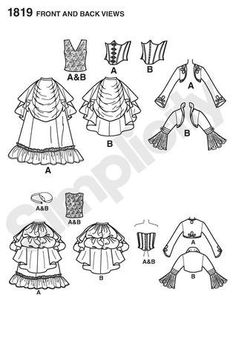 Diy Sewing Pattern-Simplicity 1819-Steampunk Bolero,Top, Corset and Bustle Skirt-Plus. $6.00, via Etsy.
