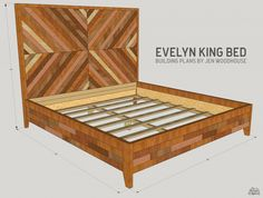How to build a DIY West Elm Alexa Bed - King Size building plans by Jen Woodhouse