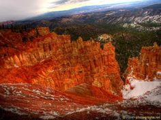 #HDR #Photo of #Bryce #Canyon #Utah #USA #Snow - more on www.travel-photographs.net