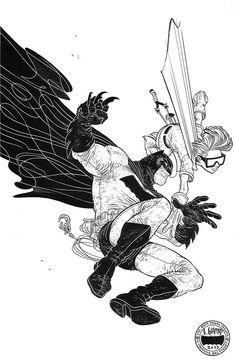 -Rafael Grampa Frank Miller's Dark Knight Batman Kunst, Batman Art, Superman, Batman Robin, Comic Book Artists, Comic Artist, Comic Books Art, Frank Miller, Character Art