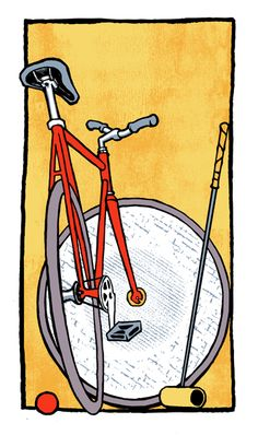 Bike - Poster Art - I've always liked things illustrated from rare angles