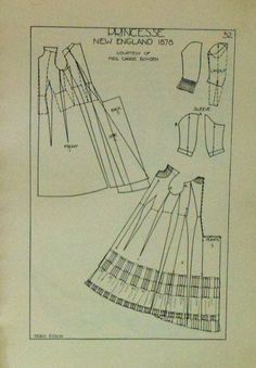 Period Patterns book- historical theatre costume diagrams