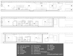 Casa en terreno angosto, planos y diseño de interiores | Construye Hogar