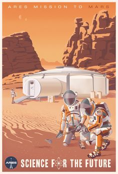 Steve Thomas: 'The Martian' Poster Cosmos, Vintage Art Prints, Vintage Posters, Steve Thomas, Vintage Space, Space Travel, Retro Art, The Martian, Retro Futurism