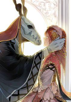 The Ancient Magus' Bride Chise Hatori and Elias Ainsworth. Manga Anime, Fanarts Anime, Anime Characters, Digimon, Manga Romance, Chise Hatori, Elias Ainsworth, The Ancient Magus Bride, Estilo Anime