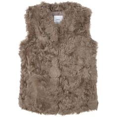 Faux Fur Gilet (19.370 RUB) ❤ liked on Polyvore featuring outerwear, vests, faux fur gilet vest, brown faux fur vest, gilet vest, faux fur waistcoat and faux fur gilet