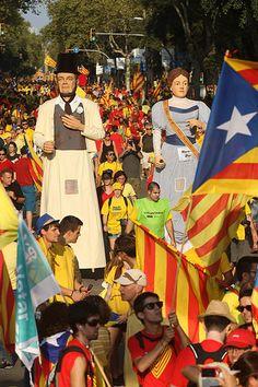 Via  2014 Diagonal -Passeig de Gracia por Assemblea.cat  Catalonia