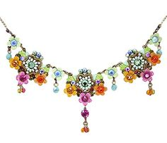 Orly Zeelon Brass, Multicolor Crystals Floral Necklace, with Suspended Beads Orly Zeelon http://www.amazon.com/dp/B00QL0VVTC/ref=cm_sw_r_pi_dp_H74xvb1ED12V6