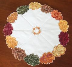 Autumn Leaves Quilted Table Topper/ Fall by homesewnbychristine