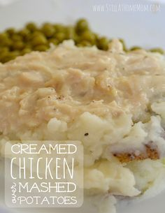 Creamed Chicken over Mashed Potatoes
