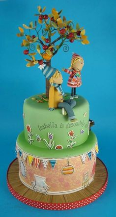 CBeebies loved this Charlie and Lola birthday party cake for Isabella.