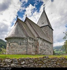 Hove Stone Church Vik, Sogn, Norway Stock Photo, Picture And ...