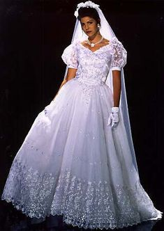 """From the Web site """"Sylvia Aster's Bridal Parlor"""" Wedding Dress Sleeves, Bridal Wedding Dresses, Dream Wedding Dresses, Bridal Style, Fancy Gowns, Dress Hairstyles, Gorgeous Wedding Dress, Lovely Dresses, Marie"""