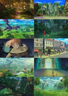 """Vibrant screens of Level 5's Studio Ghibli RPG, """"Ni no Kuni: Wrath of the White Witch"""" :) It's coming soon! Here's the trailer if you want to see more of this game... http://youtu.be/5aAs-vZ4rZE"""