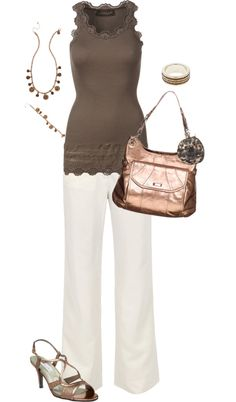 """Downtown Brown"" by julie-carter on Polyvore"