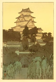 wood-block print by hiroshi yoshida (1876-1950), Japan.