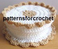 Free crochet pattern coasters and coaster basket