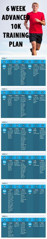 6 WEEK ADVANCED 10K TRAINING PLAN. #running #runningplan #advancedrunningplan #10k #advanced
