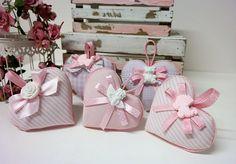 Regali per gli invitati - Cuore in stoffa imbottito Linea Baby Girl - un prodotto unico di PaperLoveFantasy su DaWanda