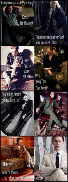 @kazzani: So I made a thing. Photographer is given a brief to get a demure, non-sexual shot of Tom...