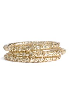Kendra Scott 'Lucca' Metal Bangles (Set of 3) available at #Nordstrom