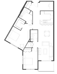 Peterson Landing New Apartments for rent in Kamloops on Summit Drive, Sahali Type I, Apartments, Landing, Den, Floor Plans, Group, Bedroom, Architecture, Bedrooms