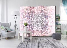 Decoration Originale, Decoupage, Divider, Tapestry, Curtains, Shower, Pink, Room, Home Decor
