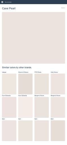 Cave Pearl, Behr. Click the image to see similiar colors by other brands.