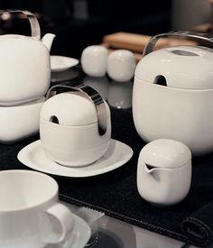 Suomi porcelain serie designed by Timo Sarpaneva (Finland) for Rosenthal Nordic Design, Scandinavian Design, Kitchenware, Tableware, Porcelain Dinnerware, Metal Trim, Pottery Studio, Vintage Coffee, Vintage Pottery