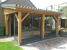 Pergola Kits Home Depot Key: 6623064280 Pergola Attached To House, Pergola With Roof, Outdoor Pergola, Backyard Pergola, Patio Roof, Backyard Landscaping, Screened Porch Designs, Backyard Patio Designs, Porche Frontal