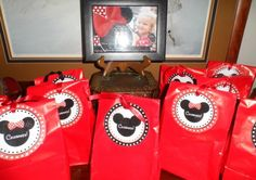 Minnie Mouse Gift Bag Favors
