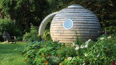 The freestanding sphere—called The Archipod—can be used as an office, studio, or meditation room.