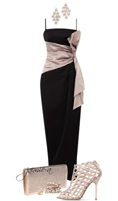 """""""Maxi Bow Dress"""" by jaimie-a on Polyvore"""