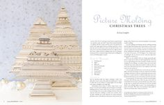 Somerset Holidays & Celebrations 2014 Volume 8 - Stampington! What a wonderful way to make a Christmas Tree!