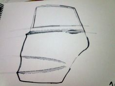 Porta traseira do Hyundai, caneta hidrográfica