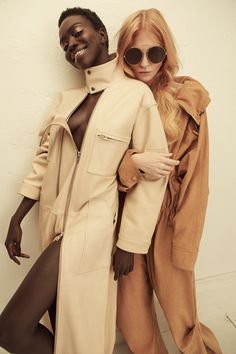 PHOTOGRAPHED BY SHXPIR. STYLED BY J. ERRICO AND SHIONA TURINI.    From left: jumpsuit by Hood By Air; jumpsuit by Stella Mccartney, sunglasses by Givenchy.