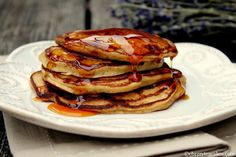 Apple Cider Buttermilk Pancakes - This savory recipe is great for a warm breakfast. Whether it's family or friends, these pancakes would be a knockout.