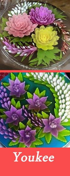 3d Jelly Cake, Jelly Desserts, Jelly Flower, Fashion Cakes, Flower Cakes, Vietnamese Recipes, Sugar Flowers, Ao Dai, Culinary Arts