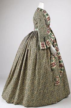 Dressing gown Date: 1860s Culture: American Medium: cotton, silk