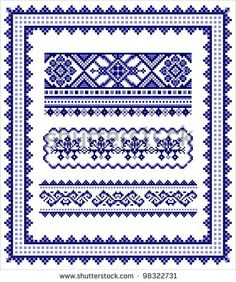 stock-photo-ethnic-cross-stitch-frame-and-borders-pattern-98322731.jpg (393×470)