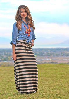 amo las faldas largas <3