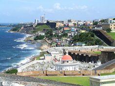 San Juan Cemetery and Condado Beach, Puerto Rico