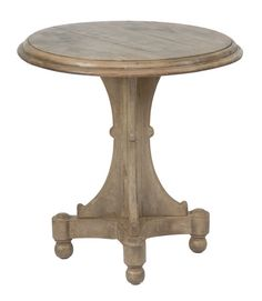 Crestview Collection Bengal Manor Mango Wood Round Accent Table with Turned detail on pedestal. Great piece of furniture for your Beach Decor. Round Accent Table, Accent Tables, Crestview Collection, Wood End Tables, Side Tables, Wood Accents, Furniture Deals, Furniture Making, Dining Table